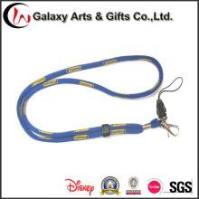 Impresso o logotipo tecido Jacquard poliéster fio volta colhedores de corda