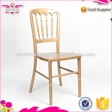 Atacado Sinofur Gold Wooden Chateau Chair
