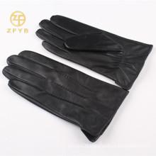 2016 best selling men's rabbit fur lined leather gloves