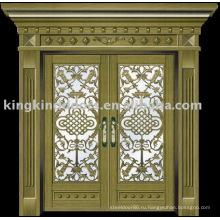 Роскошные медные двери Вилла наружные двери KK-708