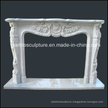 Natural Stone New Modern Mrable Fireplace with Flowers (SY-MF125)