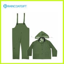 Haltbare PVC-Polyester PVC Bib Rainsuit Rpp-004