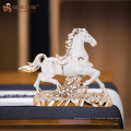 Завод пользовательские украшения дома подарок полистоуна лошадь