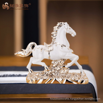 Factory custom home decoration gift polyresin horse