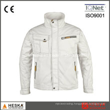 White Cotton Poly Workwear safety Jacket