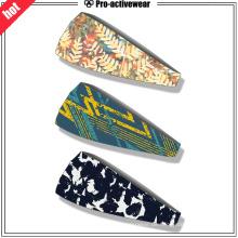 Custom Moisutr Wicking Spandex Fitness Yoga Sport Schweißband Stirnband