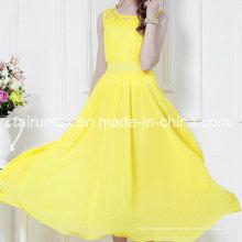 Chiffon de poliéster macio mais novo Design de tecido de vestido