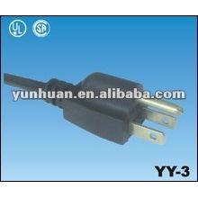 Cordon d'alimentation US SJTW câble fil Sjtow homologation Ul de type