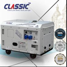 Тихий трехфазный дизельный генератор 12Kva, портативный генератор 12KW / 11KV, дизельный генератор 12KW