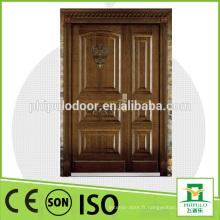 Porte blindée en bois en acier