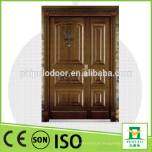 Porta blindada de madeira de aço