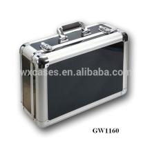 valise chinois portable en aluminium avec ABS peau fabricant chauds ventes noir