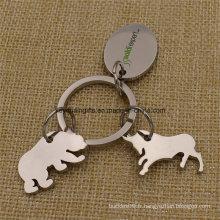 Cadeaux promotionnels Métal Custom Custom Forme Keychain