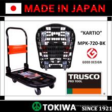 Платформенные тележки серии KARTIO с прочностью, сильной структурой и низкий уровень шума. Изготовленный Trusco. Сделано в Японии (плоская корзина)