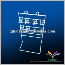 smart design 3tier 9pegs weiß pulverbeschichtet counter display wire shelf