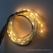5m/10m DC Led Copper / Silver Wire String Lights For Indoor Outdoor wedding decoration
