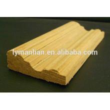 moulures décoratives en bois de teck / bois de teck pour la décoration intérieure pour le plafond / moulage de panneau recon de teck