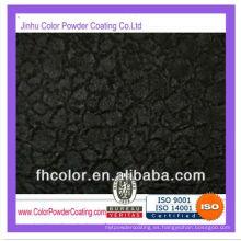 Revestimiento en polvo con textura pesada de hielo negro