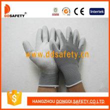 Gants blancs en nylon d'unité centrale, gants de travail (DPU119)
