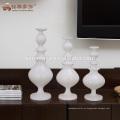 Nuevos productos centerpineces blancas del sostenedor del palillo de la vela de la resina para la tabla de la boda