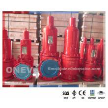 Válvula de segurança flangeada Dn600 operada manualmente (300lb)