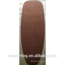 Almohadilla de la tracción de la textura del cuadrado del cojín del color del café de la sola sección 2015 / plataforma de la cubierta