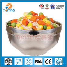 Mischmischschüssel des billigen Doppelwand-Edelstahls, hergestellt in China-Schüssel