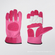 Pink Pig Grain Leather Mechanic Garden Glove-7311