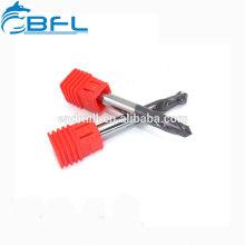 Brocas de grano ultra micro de carburo BFL para taladrar acero inoxidable, broca CNC