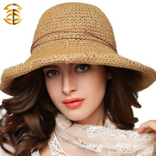 Wide Large Brim Cap Casual Summer Fashion Soft Felt Floppy Uv Protection Women Straw Hat
