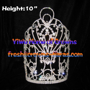10inch Wholesale Crystal Queen Crowns