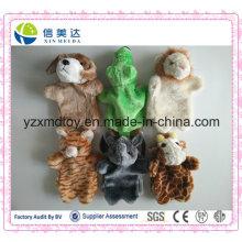 Hot Selling Interactive crianças brinquedo pelúcia Animal Puppet mão