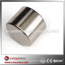 N35 Big Cylinder Magnet Ni Coating NdFeB Disc Magnet