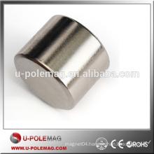 N35 Big Cylinder Magnet Ni Coating NdFeB Disc Magnet