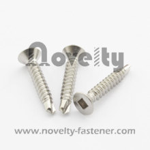 Flat Head Square Drive Self Drilling Screw(Stainless Steel)