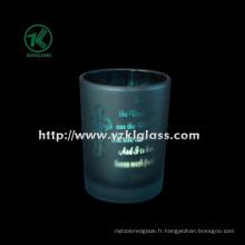 Coupe de bougie en verre à double paroi couleur par SGS (klb130916-218)