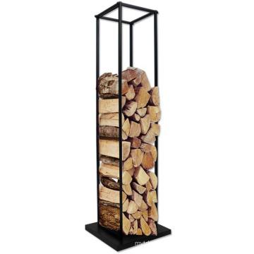 Support d'empilage de bois de chauffage en métal détachable stable