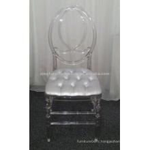 Chaise en plastique transparent Phoenix