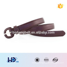 2016 leather buckle trend brown PU belt for woman