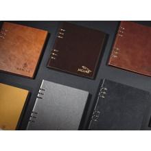 Caderno de couro sintético / de folha solta de notebook Notebook em branco