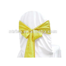 crinkle/croushed taffeta wedding chair sash