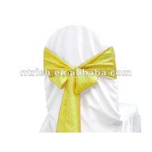 faixa de cadeira de tafetá casamento da dobra/croushed