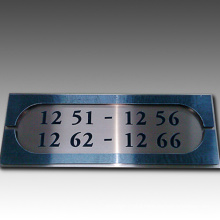 Hotel Metal Doorplate Wall Plaques