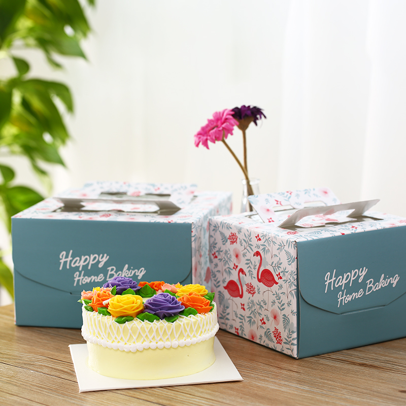 Birthday Cake Box Hand-held Transparent Ivory Board