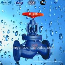 cast iron globe valve for pvc pipe J41T-16 manufacturer