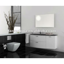 Good quality wall hung cabinet glass basin PVC Bathroom cabinet