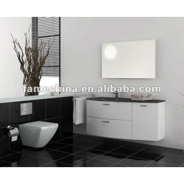 Good quality wall hung cabinet glass basin PVC Bathroom cabinet