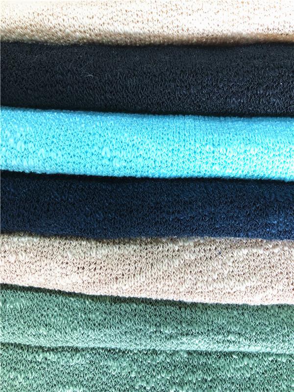 T/SP slub misty knitting fabric