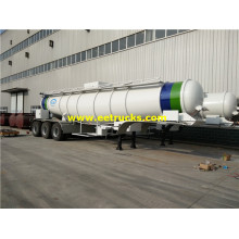 21000L 3 Axles Sulfuric Acid Transportation Trailers