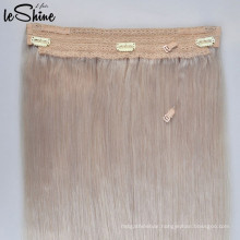 Customization High -End Double Lace Weft Sew Wholesale Flip In Hair Extension Halo Cuticle Aligned Premium